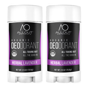 2-Pack Herbal Lavender Organic Deodorant