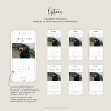 Load image into Gallery viewer, E-vite Minimalist Calendar Save the Date - Pearly Paper
