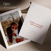 Load image into Gallery viewer, Desert Chic Save the Date Template - Pearly Paper