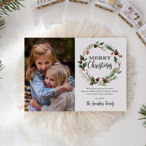 Christmas Card with Photo - Pearly Paper