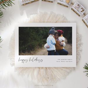 Happy Holidays Card - Pearly Paper