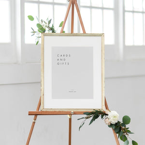 Minimalist Cards and Gifts Sign - Pearly Paper
