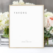 Load image into Gallery viewer, Minimalist Favors Sign - Pearly Paper