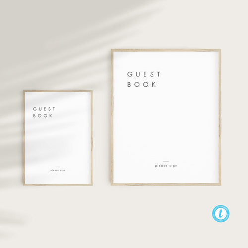 Minimalist Guest Book Sign - Pearly Paper
