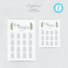Load image into Gallery viewer, Greenery seating chart Sign - Pearly Paper