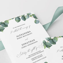 Load image into Gallery viewer, Greenery Wedding Invitation Template Eucalyptus - Pearly Paper