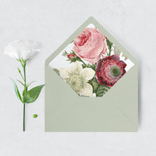 Load image into Gallery viewer, Floral Envelope Liner Greenery - Pearly Paper