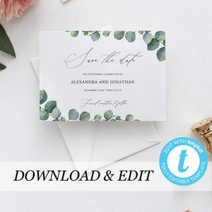 Wedding Save the Date Invite - Pearly Paper