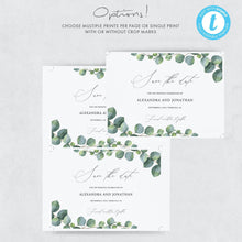 Load image into Gallery viewer, Wedding Save the Date Invite - Pearly Paper