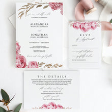 Load image into Gallery viewer, Wedding Invitation Template Wedding Suite - Pearly Paper