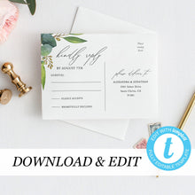 Load image into Gallery viewer, RSVP card Template Eucalyptus RSVP - Pearly Paper