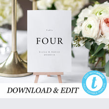 Load image into Gallery viewer, Simple Table Numbers - Pearly Paper