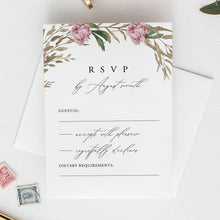 Load image into Gallery viewer, RSVP card Template Greenery Floral - Pearly Paper
