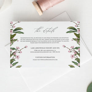 Details card Template Greenery Floral - Pearly Paper