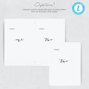 Table numbers template Templett Wedding - Pearly Paper