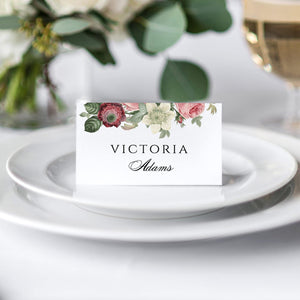 Floral Place Cards - Pearly Paper
