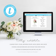 Load image into Gallery viewer, Marsala Wedding program template - Pearly Paper