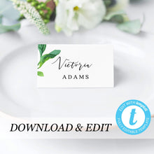 Load image into Gallery viewer, Greenery Wedding Place Cards - Pearly Paper