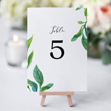 Load image into Gallery viewer, Greenery Table Numbers - Pearly Paper