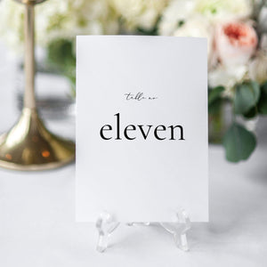 Table Numbers Simple - Pearly Paper