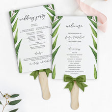 Load image into Gallery viewer, Greenery wedding program Fan - Pearly Paper