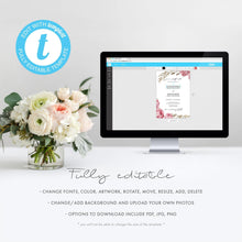 Load image into Gallery viewer, Marsala Wedding RSVP template - Pearly Paper