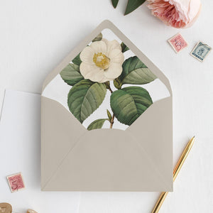 Envelope Liner Greenery Floral - Pearly Paper