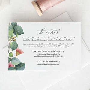 Greenery Details card Template - Pearly Paper