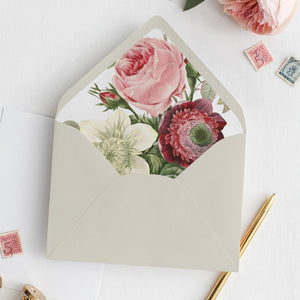 Floral Envelope Liner Greenery - Pearly Paper