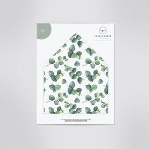 Eucalyptus Envelope Liner - Pearly Paper