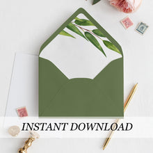 Load image into Gallery viewer, Greenery Envelope Liner - Pearly Paper