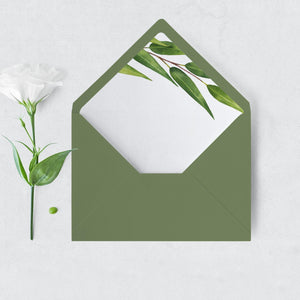 Greenery Envelope Liner - Pearly Paper