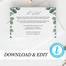 Load image into Gallery viewer, Greenery Details card Template Eucalyptus - Pearly Paper
