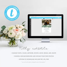 Load image into Gallery viewer, Eucalyptus Photo Save the Date Invite - Pearly Paper