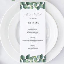 Load image into Gallery viewer, Wedding Menu Greenery - Pearly Paper