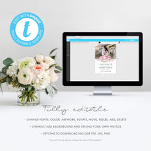 Load image into Gallery viewer, Rustic Floral Photo Save the Date - Pearly Paper