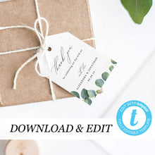 Load image into Gallery viewer, Thank You Tags Eucalyptus - Pearly Paper
