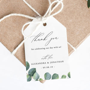Thank You Tags Eucalyptus - Pearly Paper