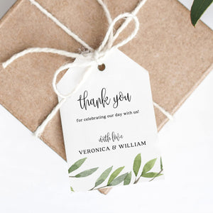 Greenery Thank You Tags - Pearly Paper