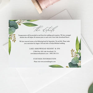 Details card Template Greenery Eucalyptus, - Pearly Paper