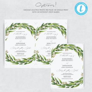 RSVP card Template Eucalyptus RSVP - Pearly Paper