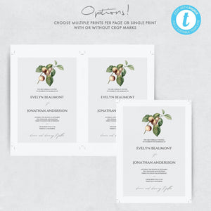 Boho Wedding Invitation Template Rustic - Pearly Paper