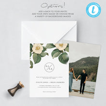 Load image into Gallery viewer, Greenery Wedding Invitation Template Printable - Pearly Paper