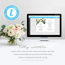 Load image into Gallery viewer, Greenery Wedding Ceremony Program Fan - Pearly Paper