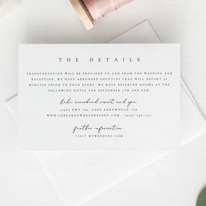 Details card Template, Details card - Pearly Paper
