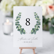 Load image into Gallery viewer, Eucalyptus Table Numbers - Pearly Paper