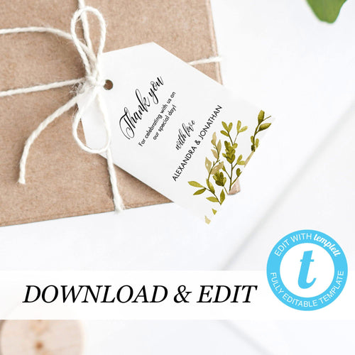 Woodland Thank You Tags - Pearly Paper