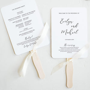Wedding Ceremony program Modern - Pearly Paper