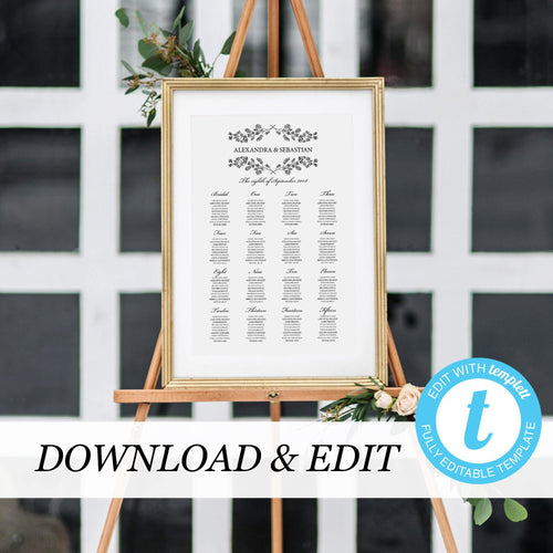Seating chart Sign - Pearly Paper