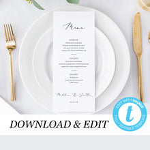 Load image into Gallery viewer, Wedding Menu Simple - Pearly Paper